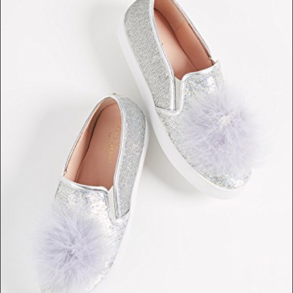 98e0e07be9fa Kate spade New York Latisa Pom Pom sequin flats